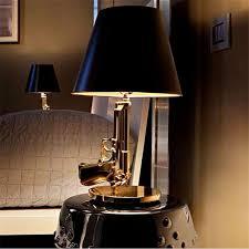 Bedroom Table Lamps Discount Modern Flos Lounge Gun Ak47 Chrome Gold Gun Starck Design
