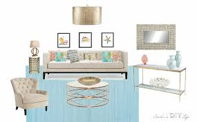 Modern Coastal Interior Design A Glamorous Modern Coastal Living Room Anika U0027s Diy Life