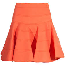 cotton skirts see by chloé orange bandage cotton skirt polyvore
