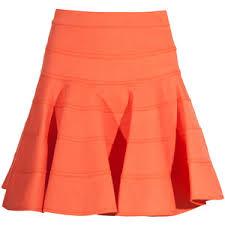 cotton skirt see by chloé orange bandage cotton skirt polyvore