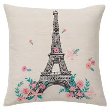 Eiffel Tower Room Decor Tres Chic Eiffel Tower Pillow Cover Pbteen