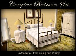 Brass Bedroom Furniture by Second Life Marketplace White Lace U0026 Brass Bedroom Set