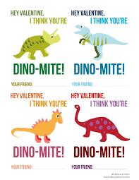 free printable dinosaur valentines mom