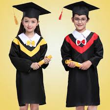 graduation gowns kids costume doctor girl party bachelor kids graduation gowns