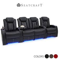 delta sofa and loveseat seatcraft delta black leather home theater seats row of 4 loveseat