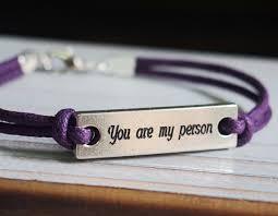 personalized engraved bracelets you re my person bracelet purple cotton leather quote bracelet