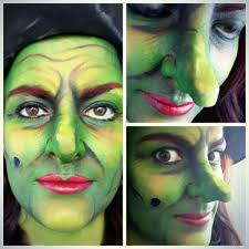 green halloween witch makeup facepaint inspired by the wizard of