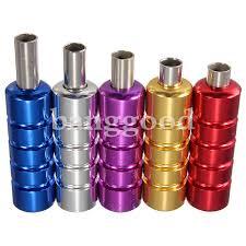 5 colors aluminum tattoo machine gun grip tube kit with backstem