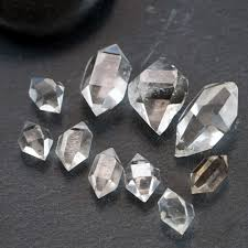 pink star diamond raw raw herkimer diamond set of 3