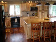 denver hickory kitchen cabinets love the darker floor darker counter tops look good i just don t