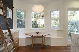 Window Seat In Dining Room - contemporary dining room with flush light by martinkovic milford