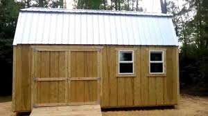 Loft Barn Plans by 12x20 Barn Gambrel Shed 2 Shed Plans Stout Sheds Llc Youtube