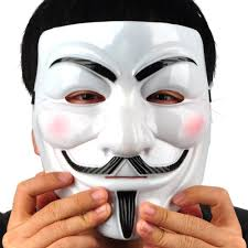 v for vendetta anonymous guy fawkes plastic mask durable good