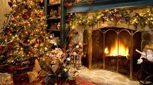 christmas fireplace wallpaper wallpapers9
