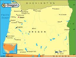 political map of oregon map of oregon