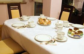 how to set table set table for tea and coffee time stock image image of table