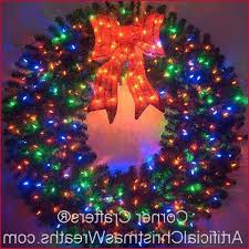 outdoor wreath with lights get lighted outdoor wreaths
