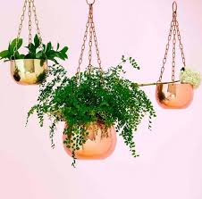 small copper hanging planter t r e n d copper luxe