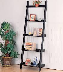 Ladder Bookcase White by Furniture Chic Leaning Bookcase In Brown And White And Five Tier