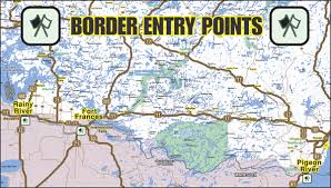map us states bordering canada map usa canada border states major tourist attractions maps