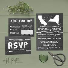 Chalkboard Wedding Invitations Chalkboard Wedding Invitations For Long Distance Relationship