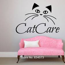 Decoration Cat Wall Decals Home by Mad World Cat Care Pet Pets Shop Love Animals Wall Art Stickers