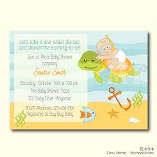 custom the sea baby shower invite theme baby
