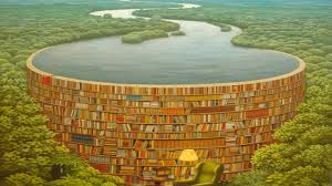 1366x768 awesome surreal scenery books desktop pc and mac wallpaper