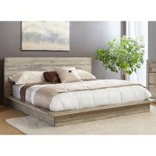 White King Platform Bed White Washed Modern Rustic King Platform Bed Renewal Rc Willey
