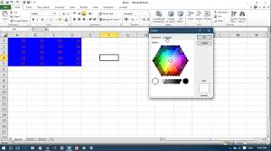 excel vba change font and background color of cells youtube