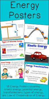 energy poster and interactive notebook inb set physics
