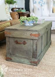 Rustic Chest Coffee Table Trunk Coffee Table Plans Trunk Coffee Tables Diy Coffee Table