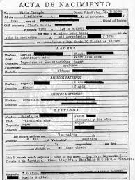 spanish birth certificate template birth certificate translation