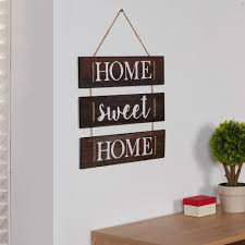 danya b inspirational home sweet home wooden wall hanging sign