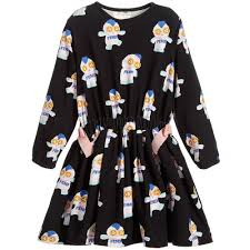 girls u0027piro chan u0027 black dress childrensalon