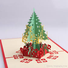 tree handmade 3d pop up greeting card paper