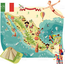 Map Of Mexico by Cartoon Map Of Mexico Stock Vector Art 484034549 Istock