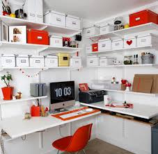 orange home office furniture decor interior design architecture