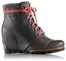 womens sorel boots canada cheap s pdx waterproof leather and canvas lace up wedge ankle boot