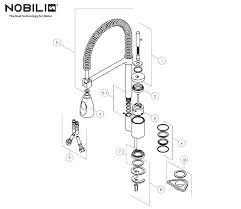 mitigeur nobili cuisine alterna 45300 robinetterie de cuisine avec douchette mitigeur evier