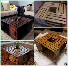 Wine Coffee Table Crate Coffee Table Diy 1 Diy Wine Wood Crate Coffee Table Free