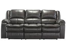 faux leather reclining sofa signature design by ashley long knight faux leather reclining sofa