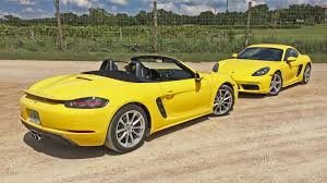 gold porsche boxster 2017 porsche 718 boxster and boxster s test drive review the