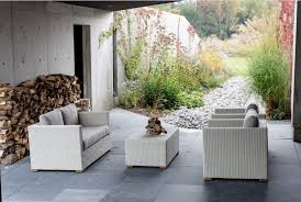 Outdoor Living Patio Furniture Tortuga Portside Coastal White Wicker Conversation Set Ps 3379
