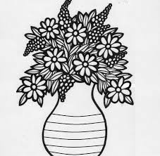 Pencil Sketch Of Flower Vase Photos Image Of Drawing Flower Vase With Flower Drawing Art