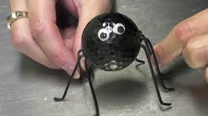 halloween spiders crafts halloween golf ball spider craft tutorial youtube