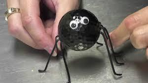 Halloween Spider Crafts by Halloween Golf Ball Spider Craft Tutorial Youtube