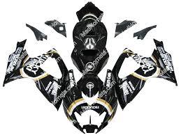 gsxr emblem mad hornets fairings suzuki gsxr 600 750 black gold lucky strike