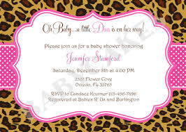 Baby Shower Invitation Cards Animal Print Baby Shower Invitations Theruntime Com