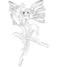 winx club coloring pages enchantix games printable of winx club